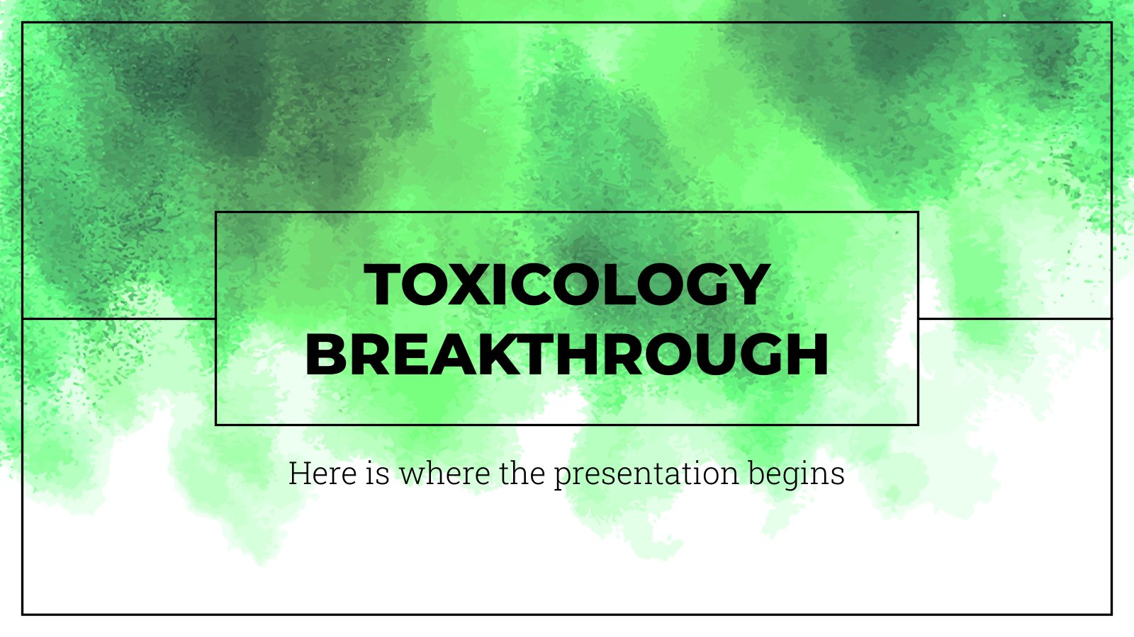 Plantilla de presentación Avances médicos en toxicología