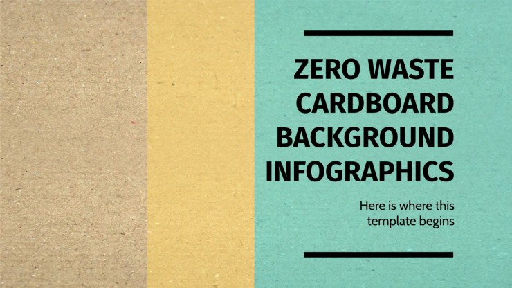 Infographies arrière-plans en carton zéro déchet