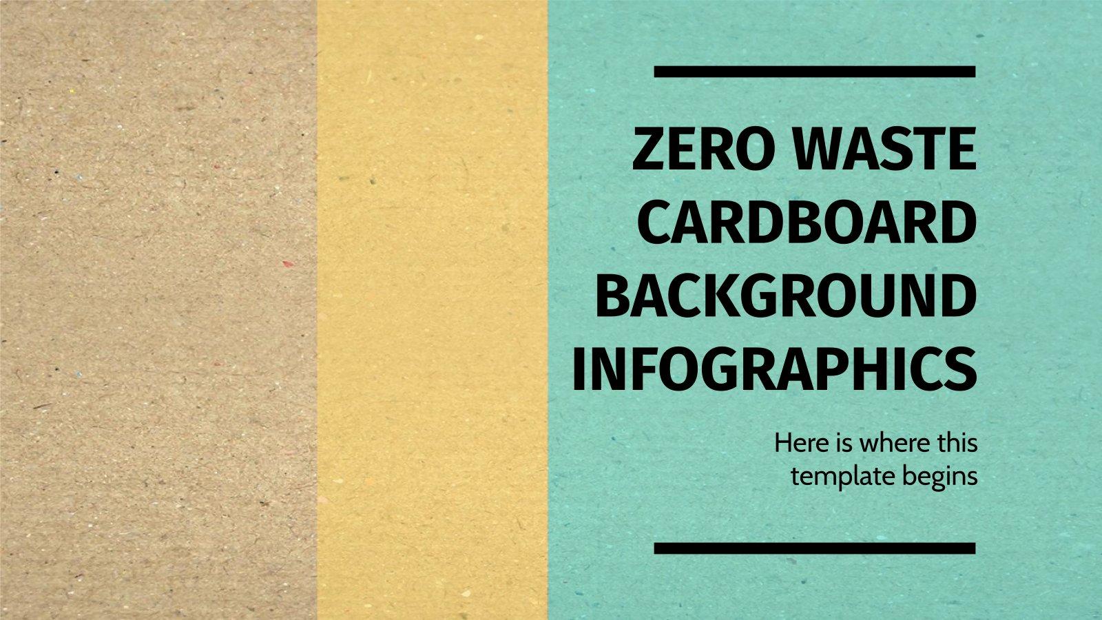 Modelo de apresentação Infográficos fundos de papelão com zero resíduo