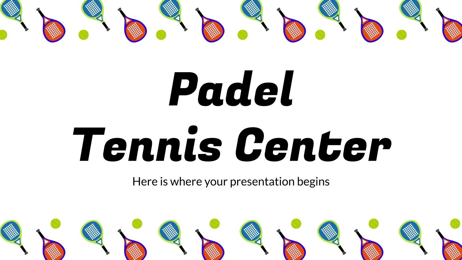 Padel Zentrum Präsentationsvorlage