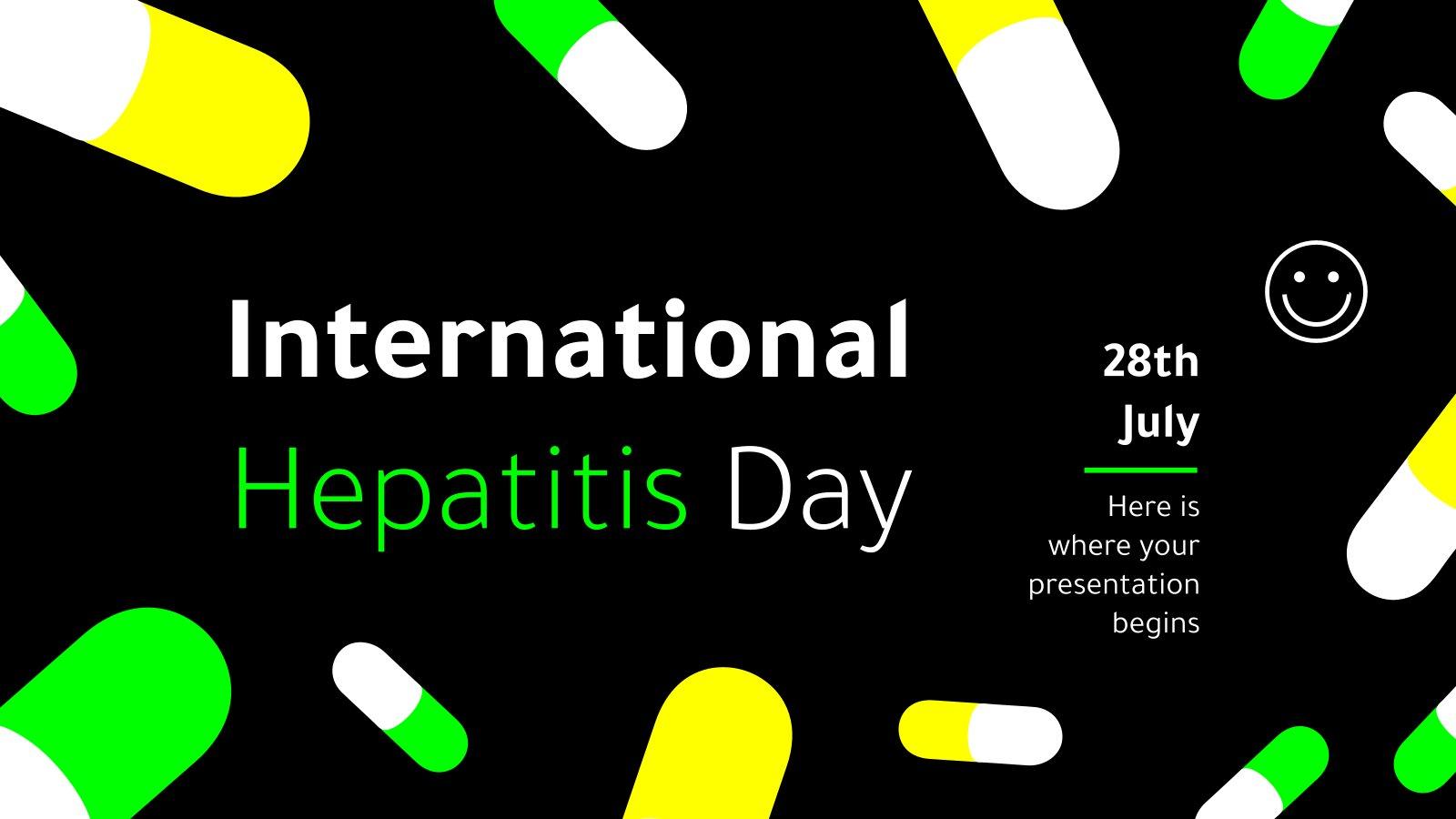 Plantilla de presentación Día contra la Hepatitis