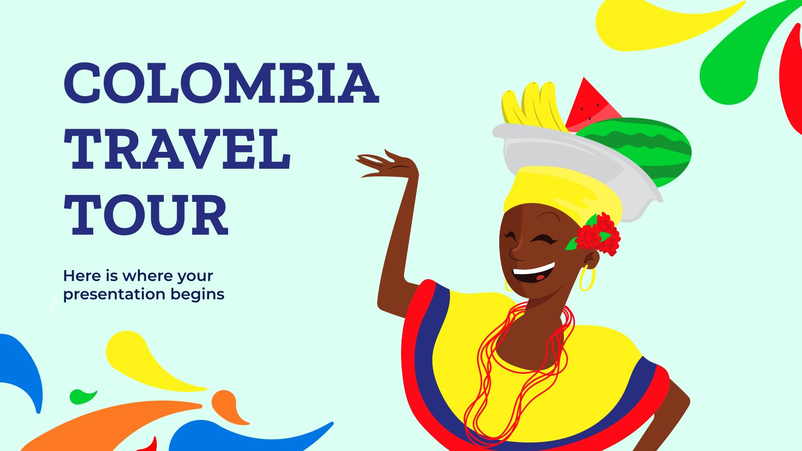 Colombia Travel Tour presentation template