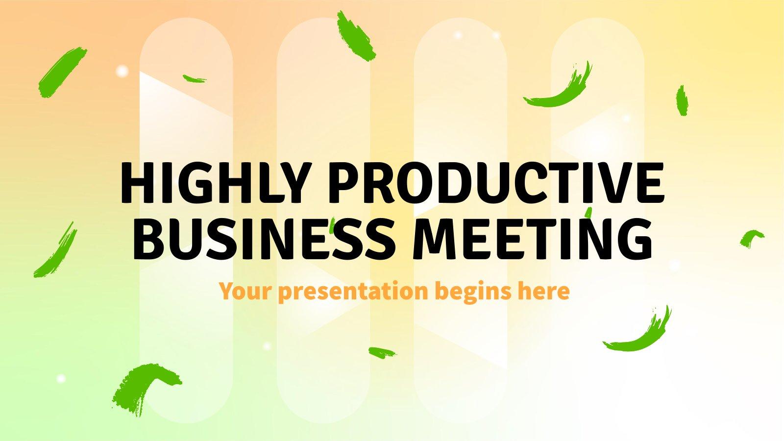 Plantilla de presentación Una reunión de negocios muy productiva