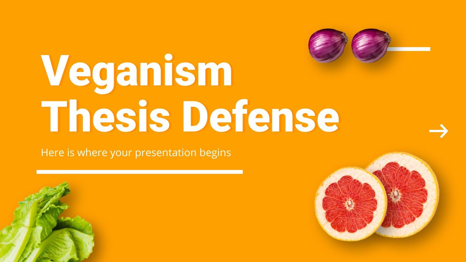 Veganism Thesis Defense presentation template