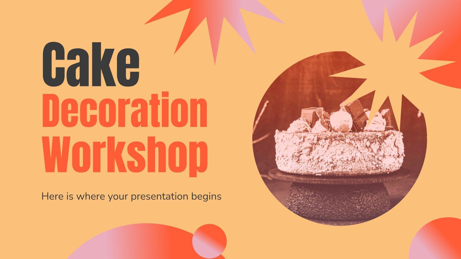 Atelier de décoration de gâteaux : Modèles de présentation