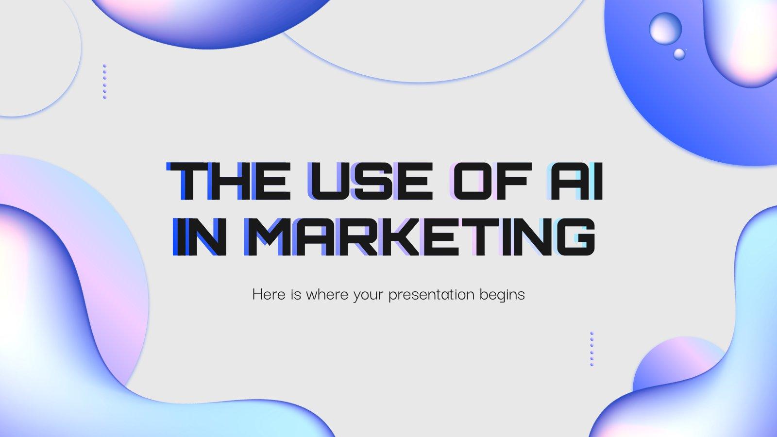 Der Einsatz von KI im Marketing Präsentationsvorlage