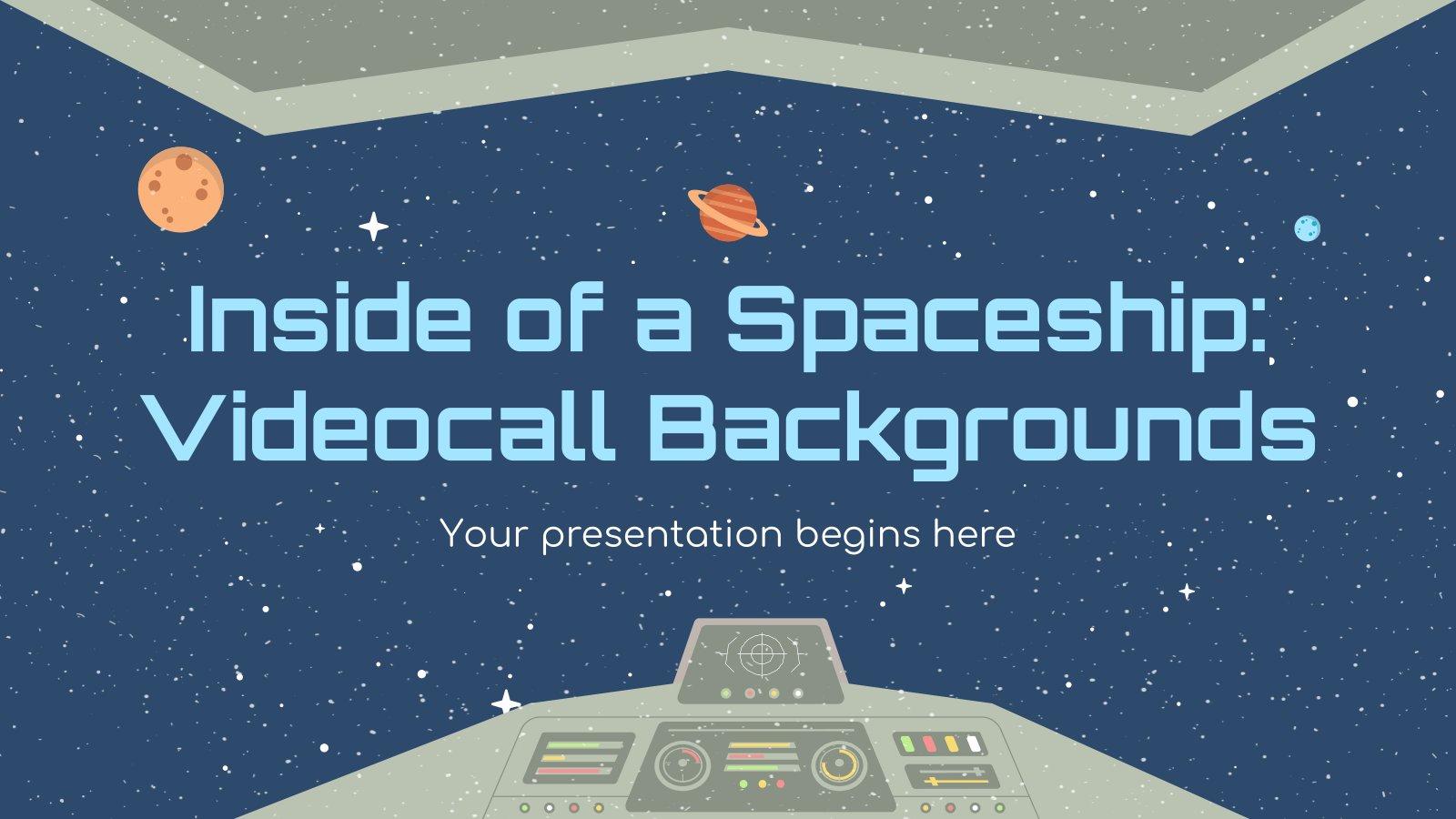 Plantilla de presentación En una nave espacial: fondos para videollamadas