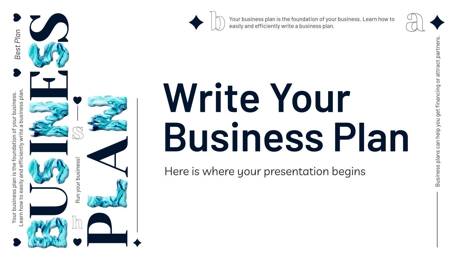 Plantilla de presentación Escribe tu plan de negocios