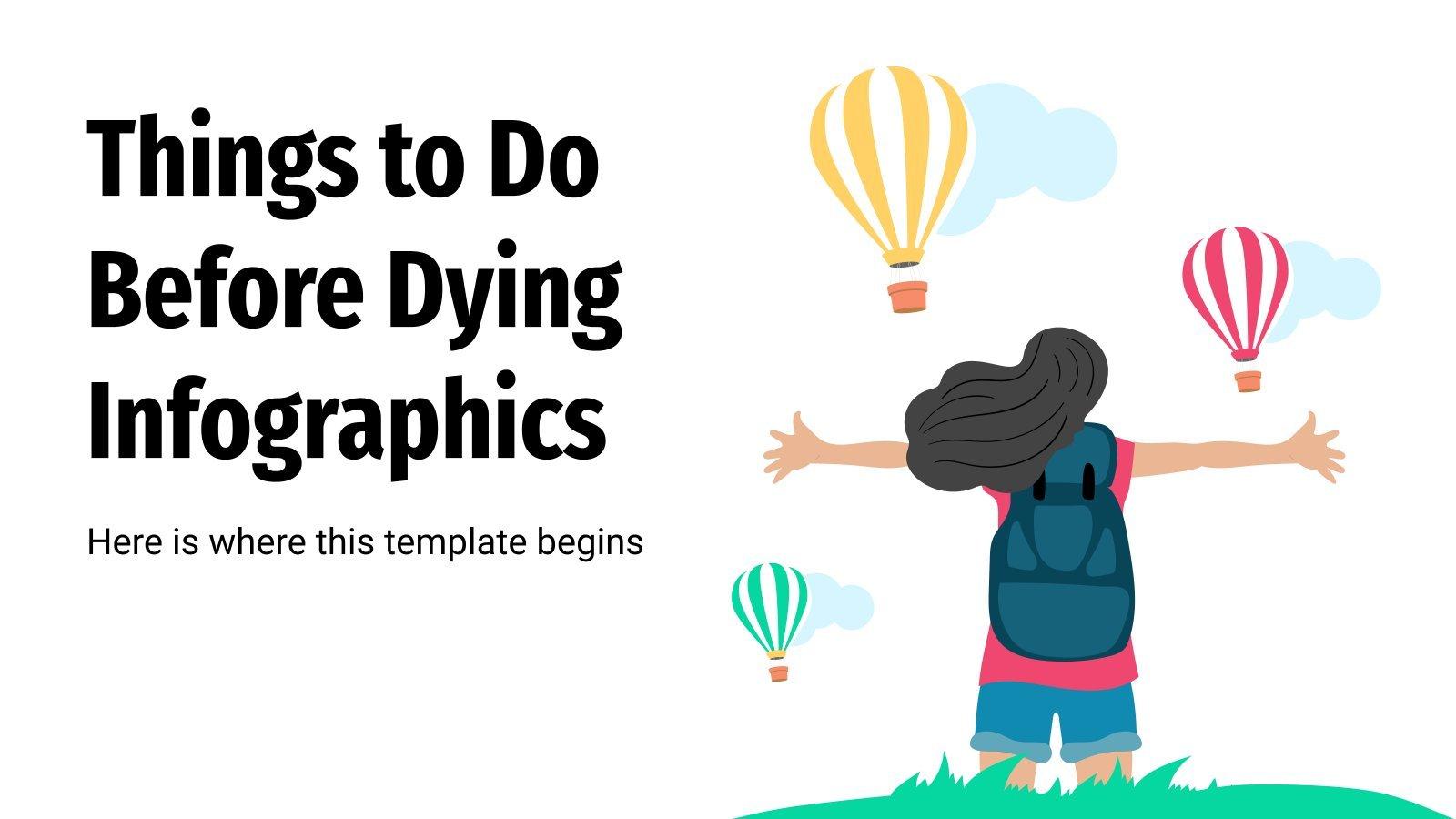 Infografiken Dinge, die du tun solltest, bevor du stirbst Präsentationsvorlage