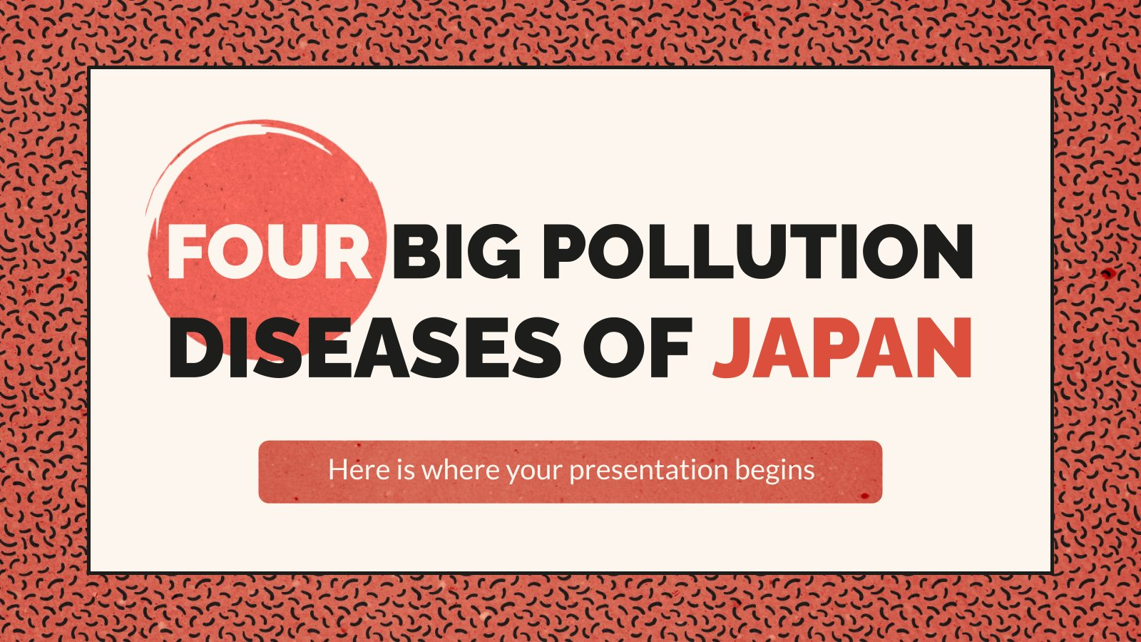Plantilla de presentación Los cuatro grandes desastres sanitarios por contaminación en Japón