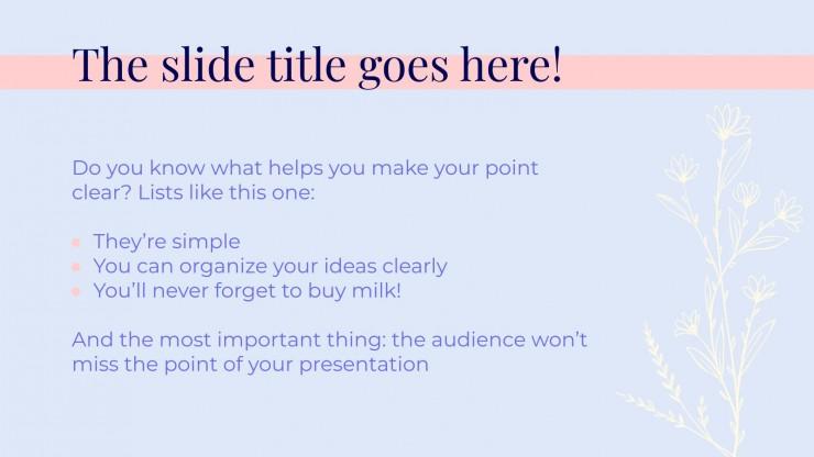 Pastell Präsentation Präsentationsvorlage