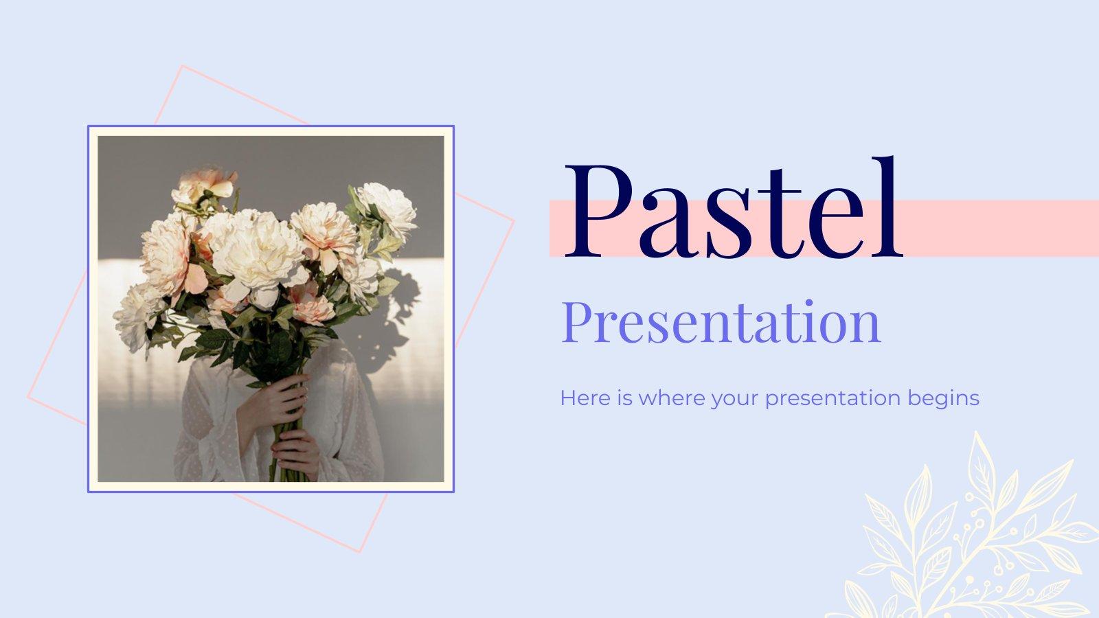 Plantilla de presentación Diapositivas de colores pastel