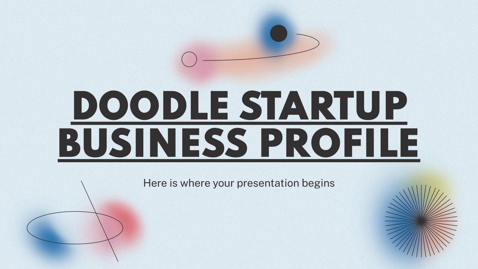 Doodle Startup Firmenprofil Präsentationsvorlage