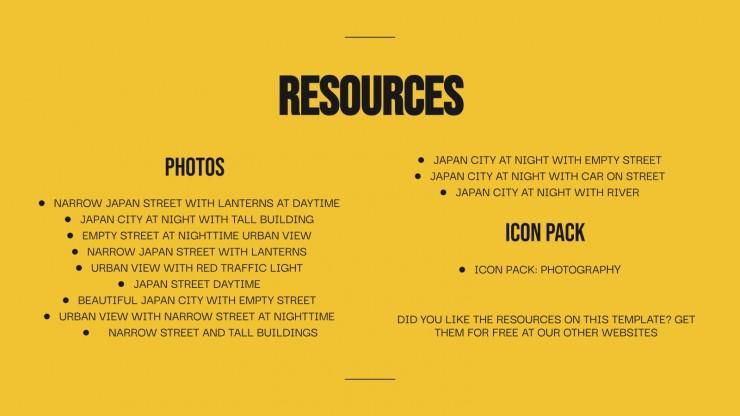 Forsaken Places Portfolio presentation template