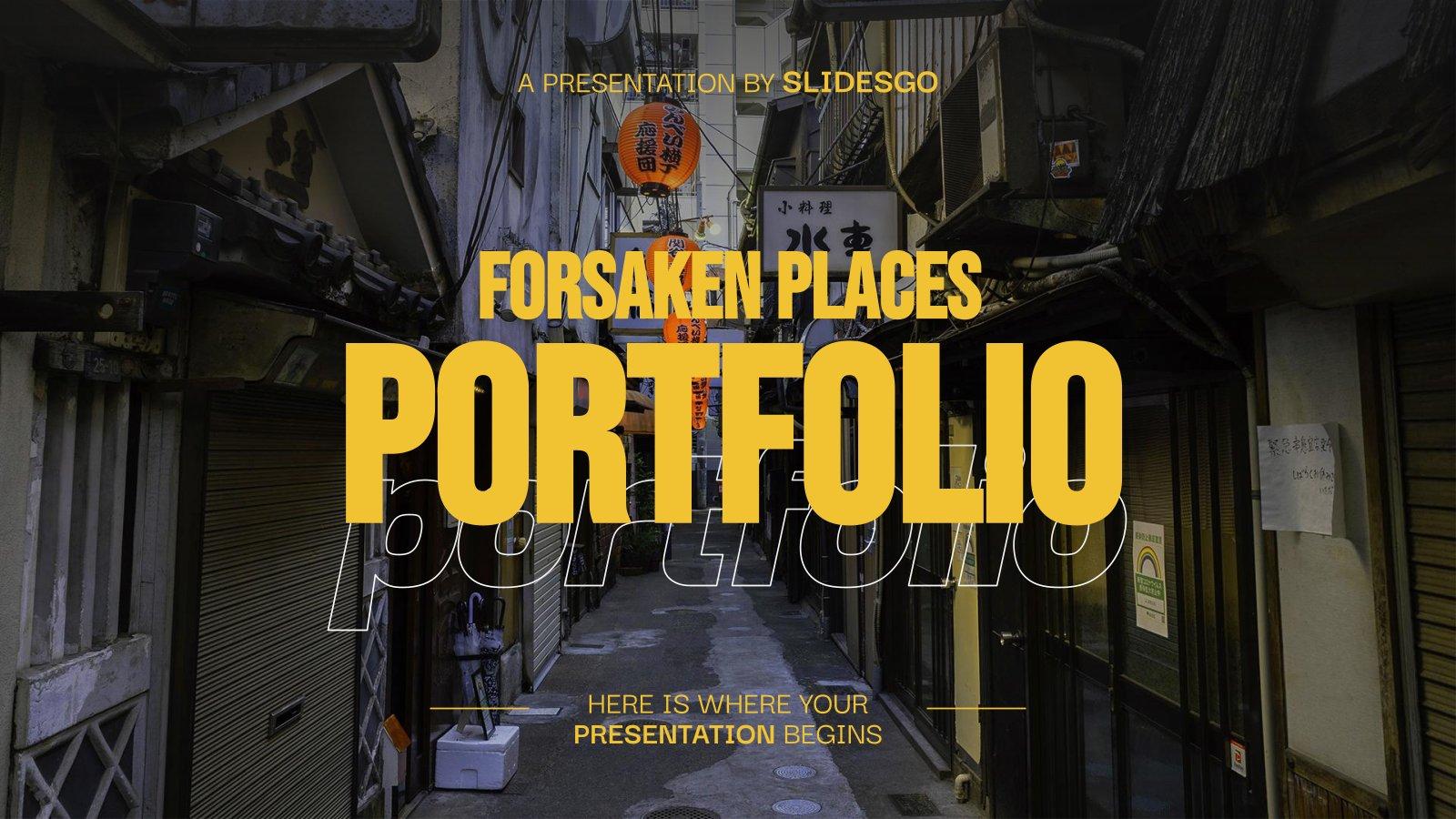 Plantilla de presentación Portafolio de lugares lejanos