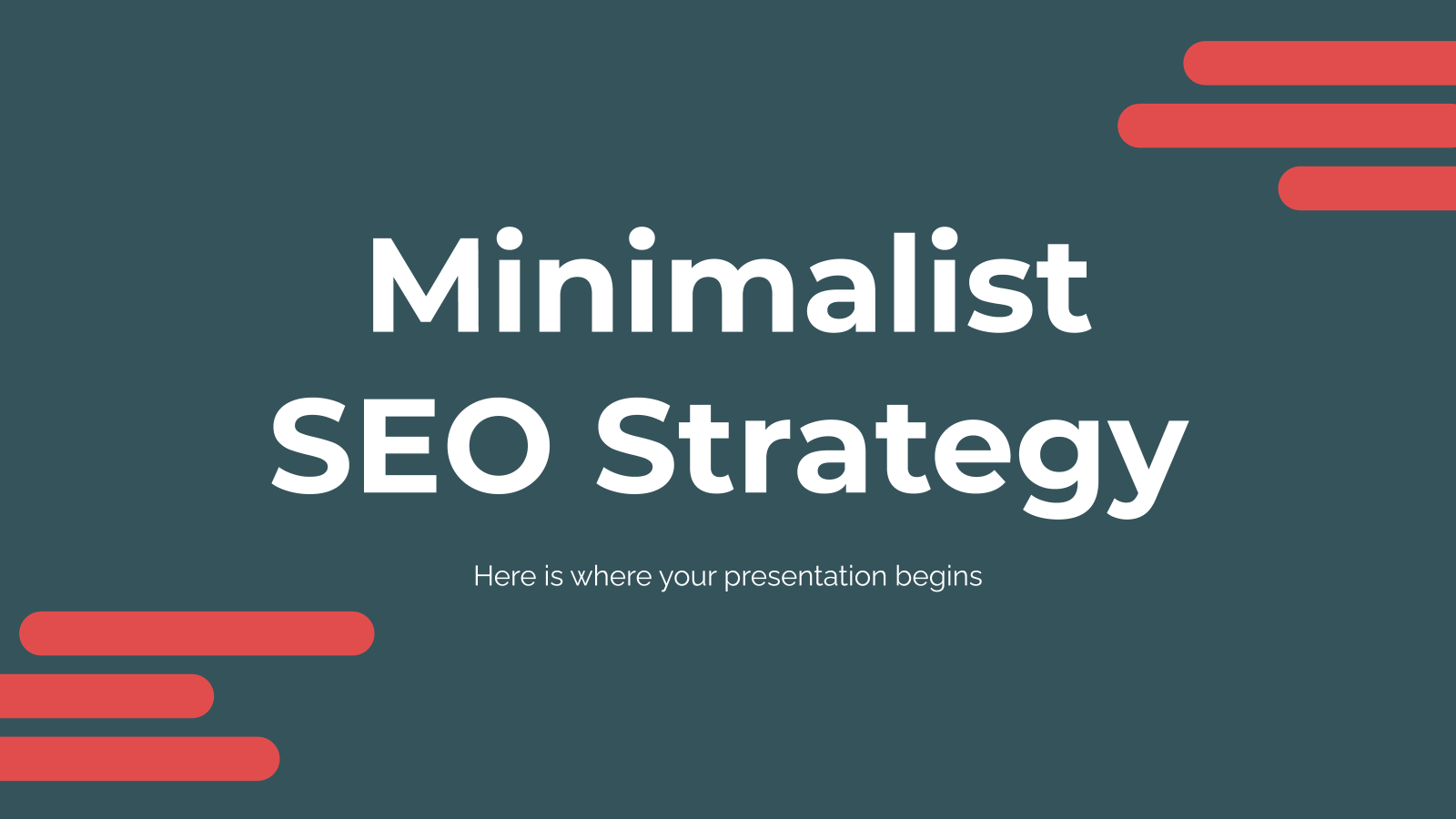 Minimalist SEO Strategy presentation template