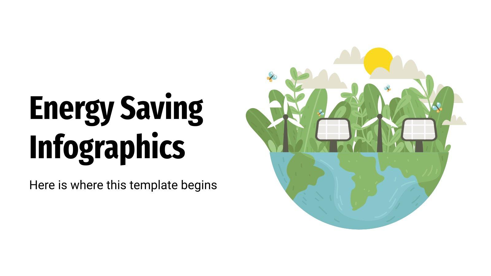 Energy Saving Infographics presentation template
