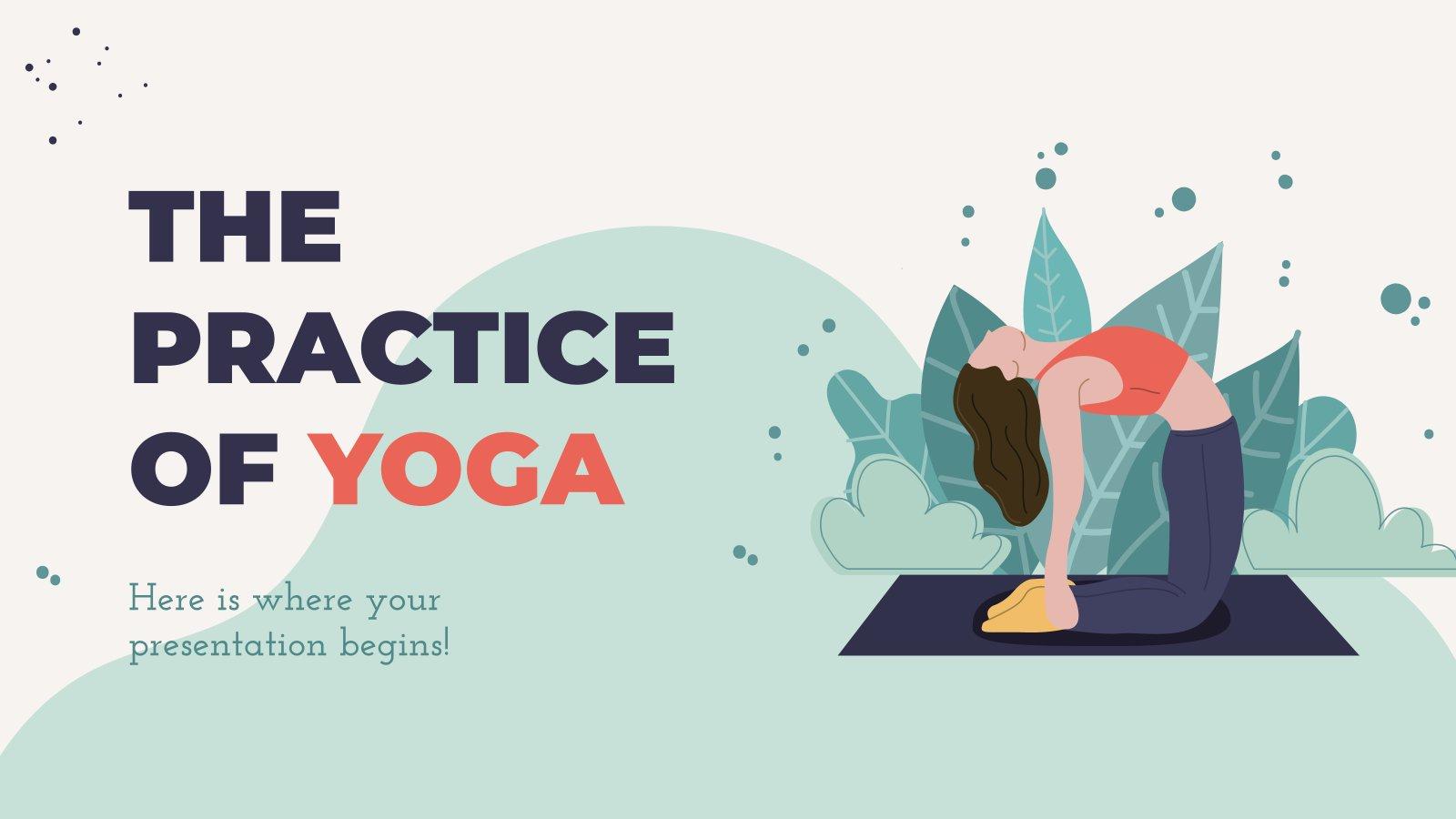 Die Praxis des Yoga Präsentationsvorlage
