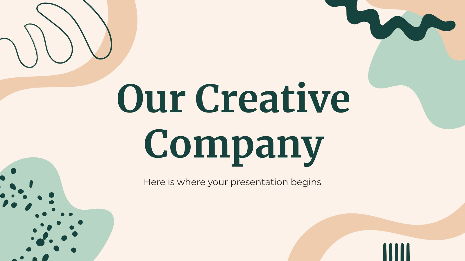 Plantilla de presentación Nuestra empresa creativa