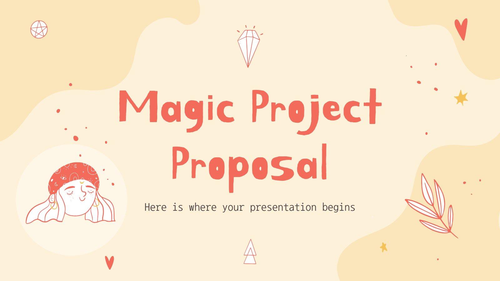 Plantilla de presentación Propuesta de proyecto con magia