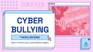 Cyber Mobbing Abschlussarbeit Präsentationsvorlage