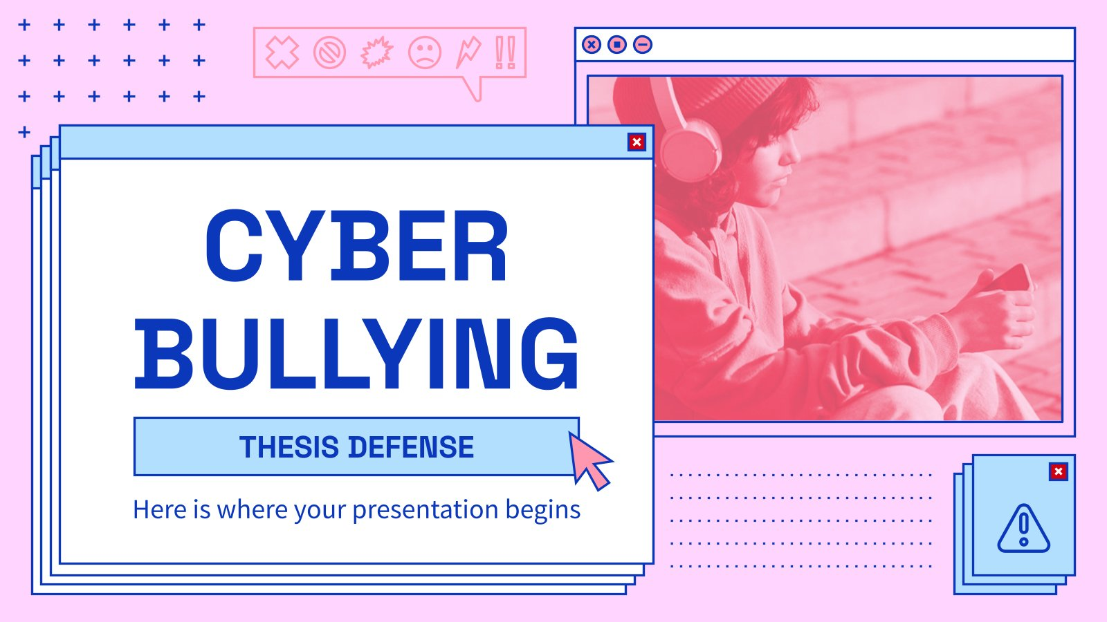 Cyber Bullying Thesis Defense presentation template