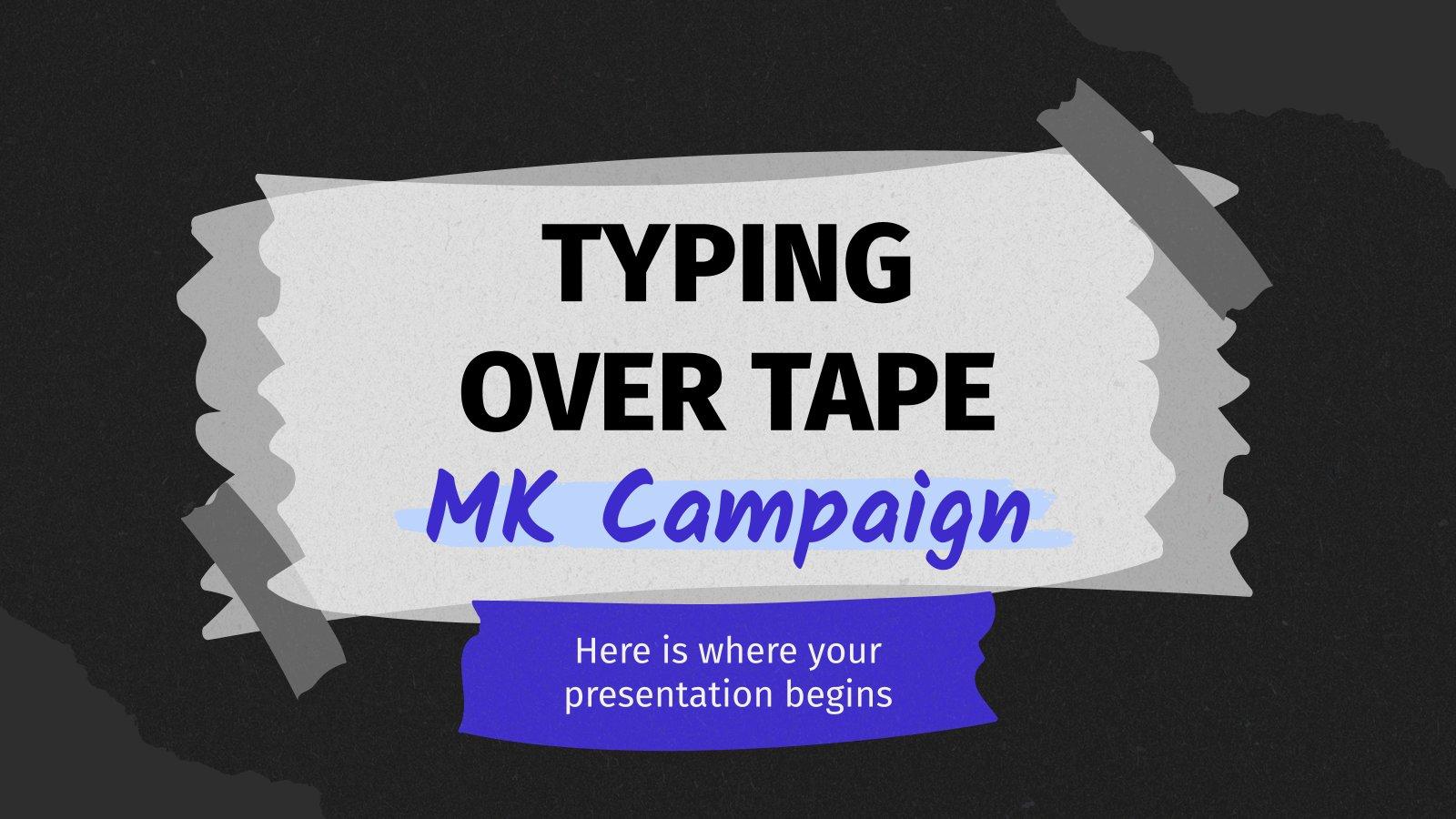 Plantilla de presentación Campaña de marketing con cinta adhesiva