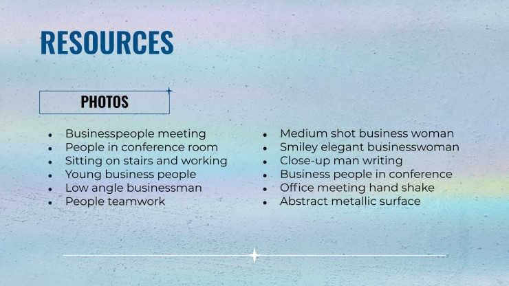 Sterne Business Meeting Präsentationsvorlage