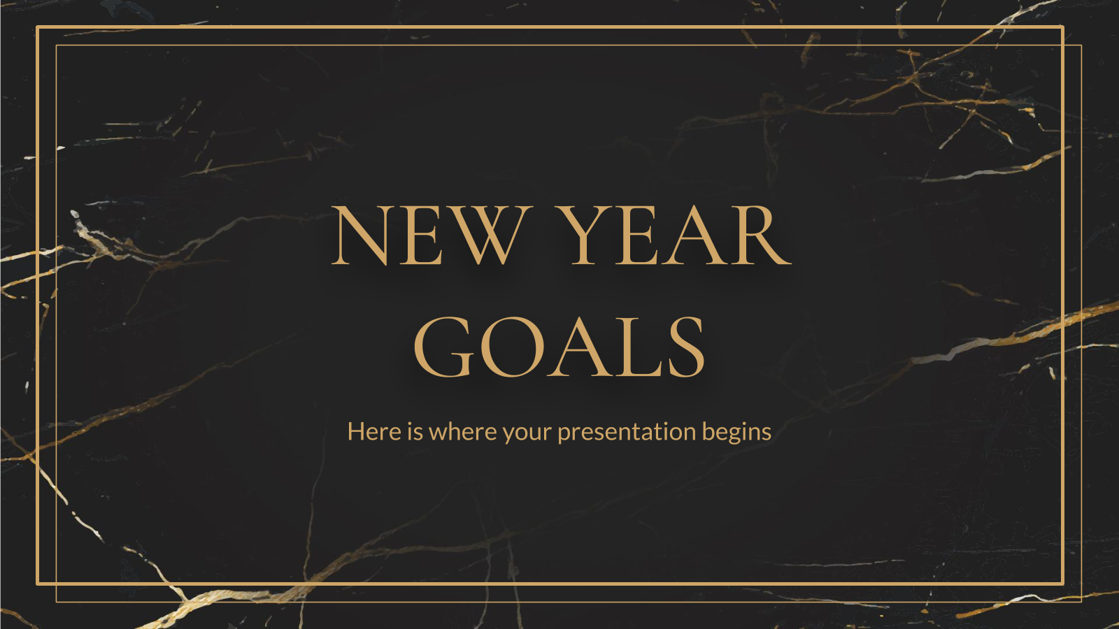 New Year Goals presentation template