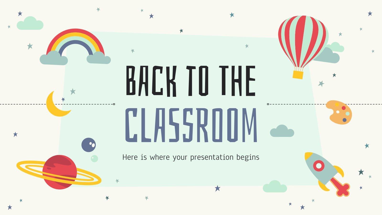 Modelo de apresentação Voltar para a sala de aula