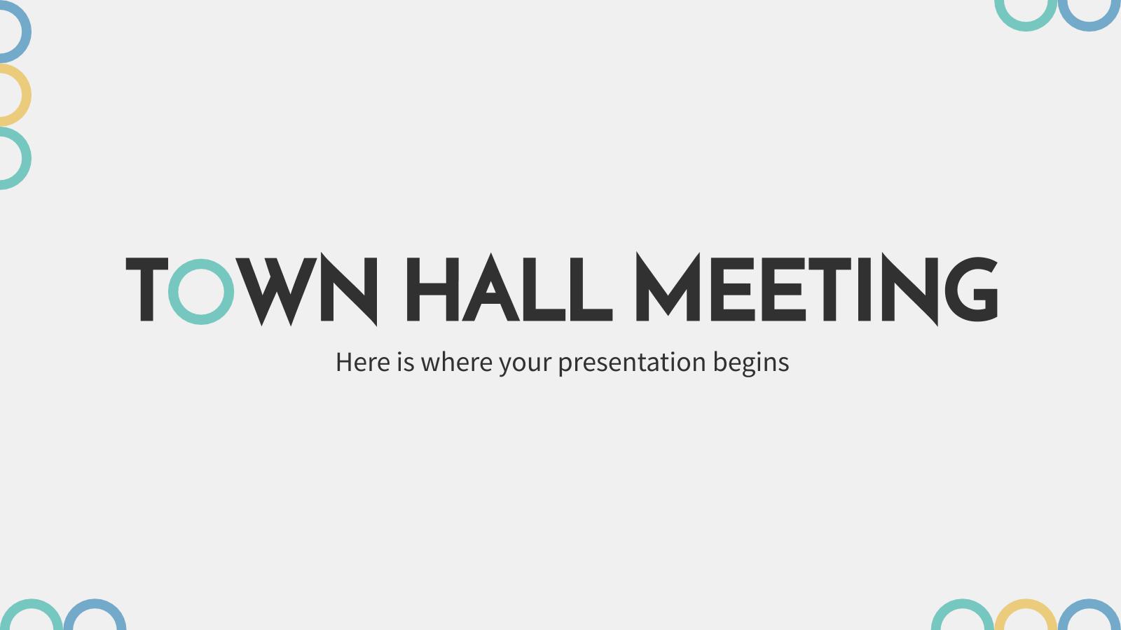 Plantilla de presentación Reunión en el ayuntamiento