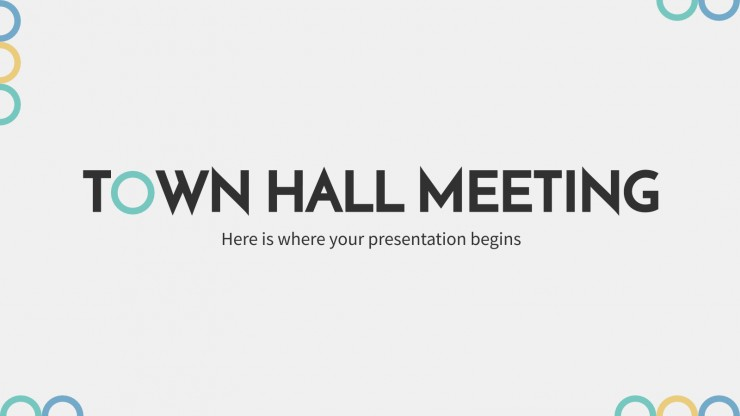 Town Hall Meeting presentation template