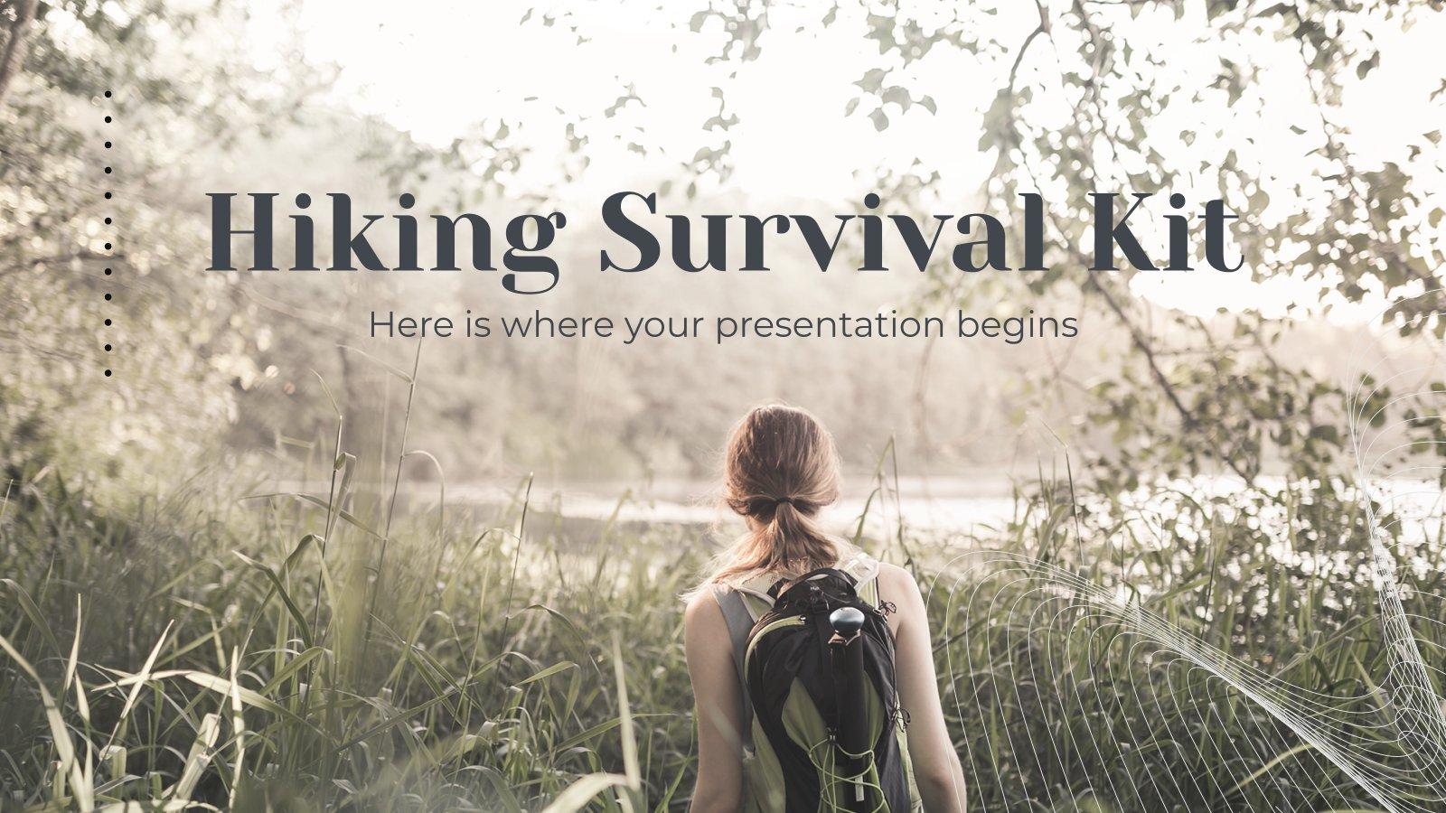 Hiking Survival Kit presentation template