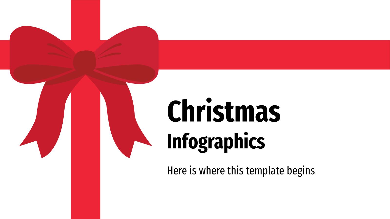 Christmas Infographics presentation template
