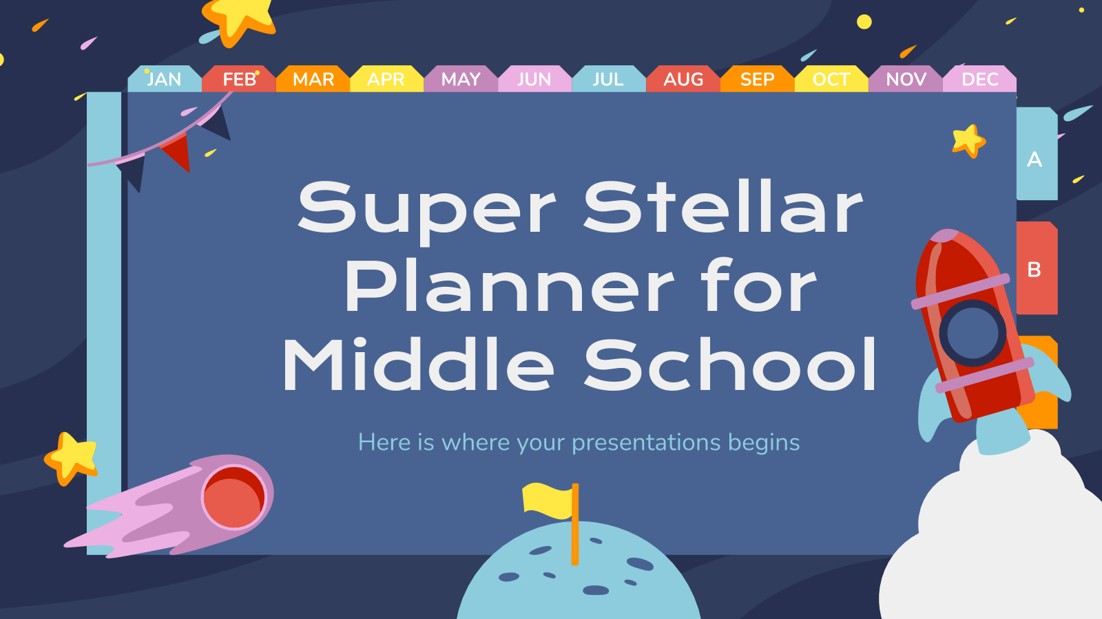 Super Stellar Planner for Middle School presentation template