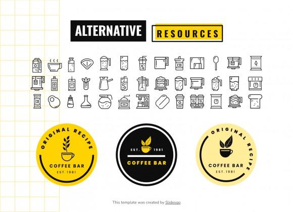 Menu de café géométrique : Modèles de présentation