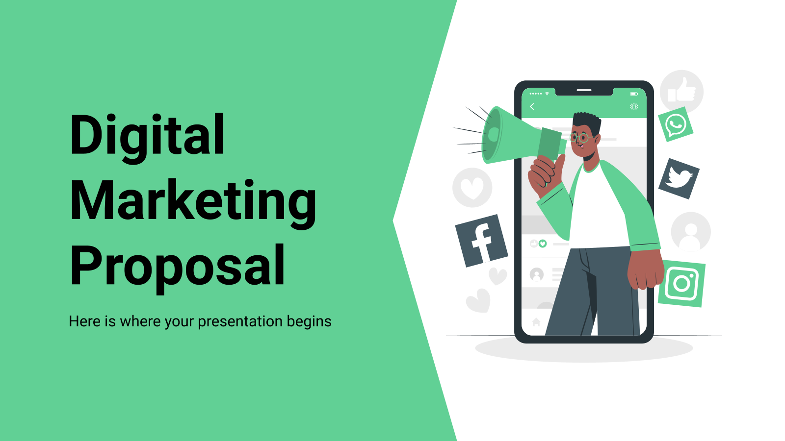 Plantilla de presentación Propuesta para marketing digital