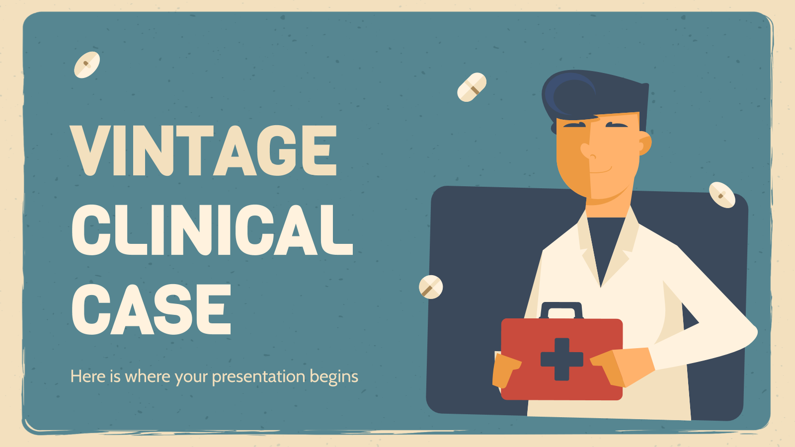 Vintage Clinical Case presentation template