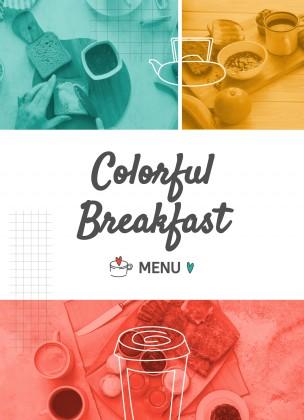 Modelo de apresentação Cardápio de café da manhã