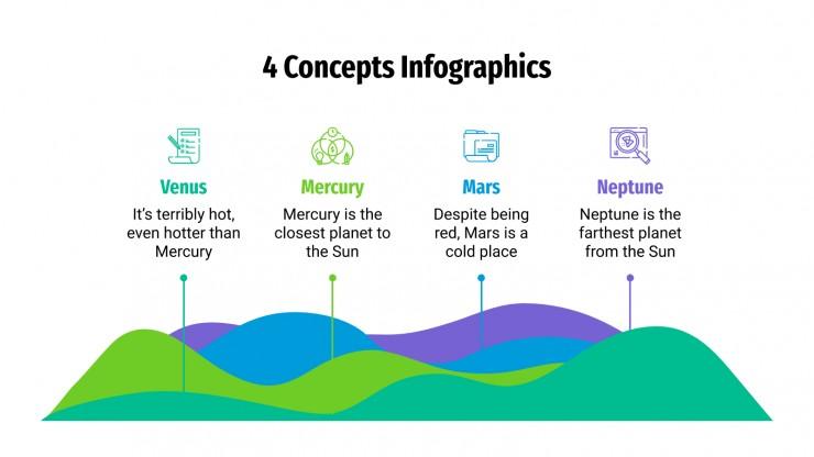 4 Concepts Infographics presentation template