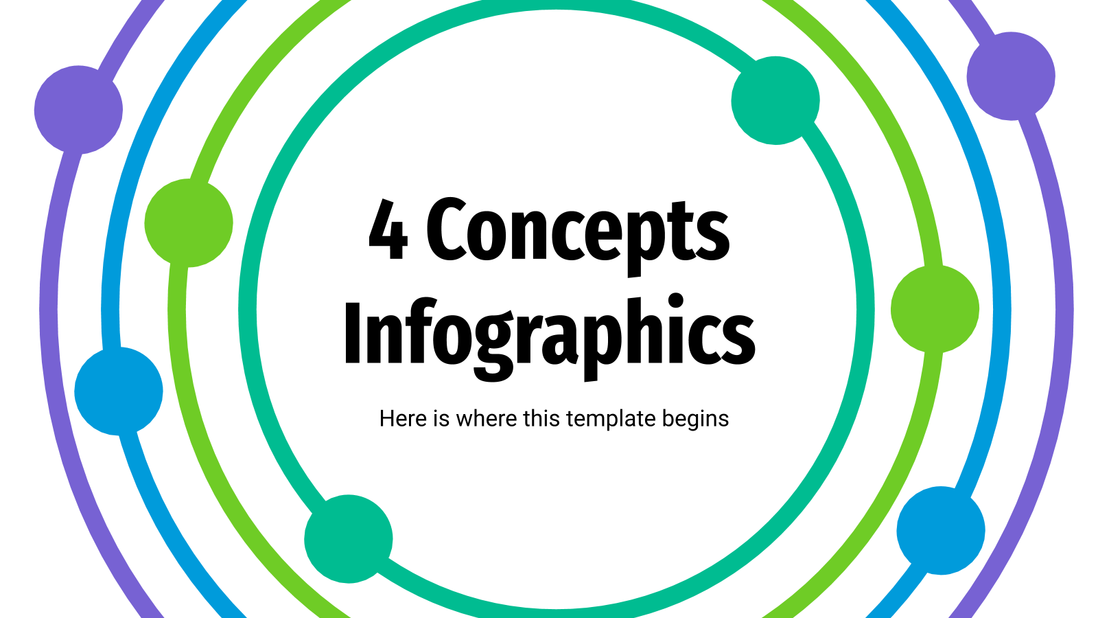 4 Concepts Infographics presentation template