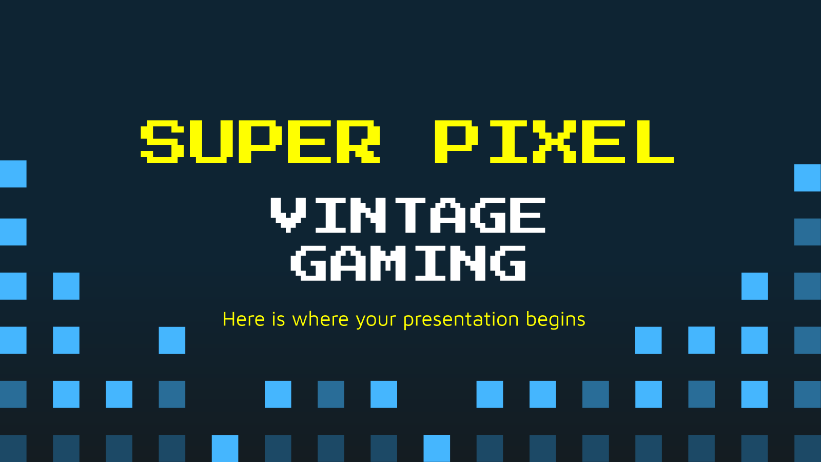 Super Pixel Vintage Gaming presentation template