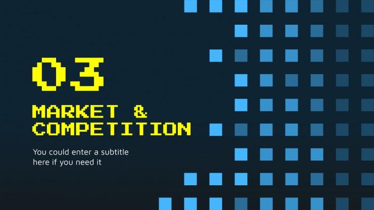 Jeux d'argent super-pixel : Modèles de présentation
