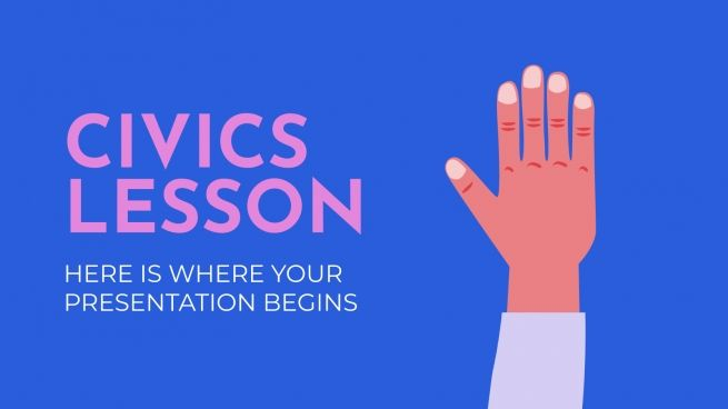 Civics Lesson presentation template