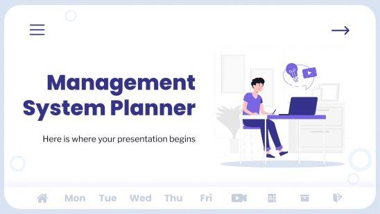 Modelo de apresentação Agenda de gestão