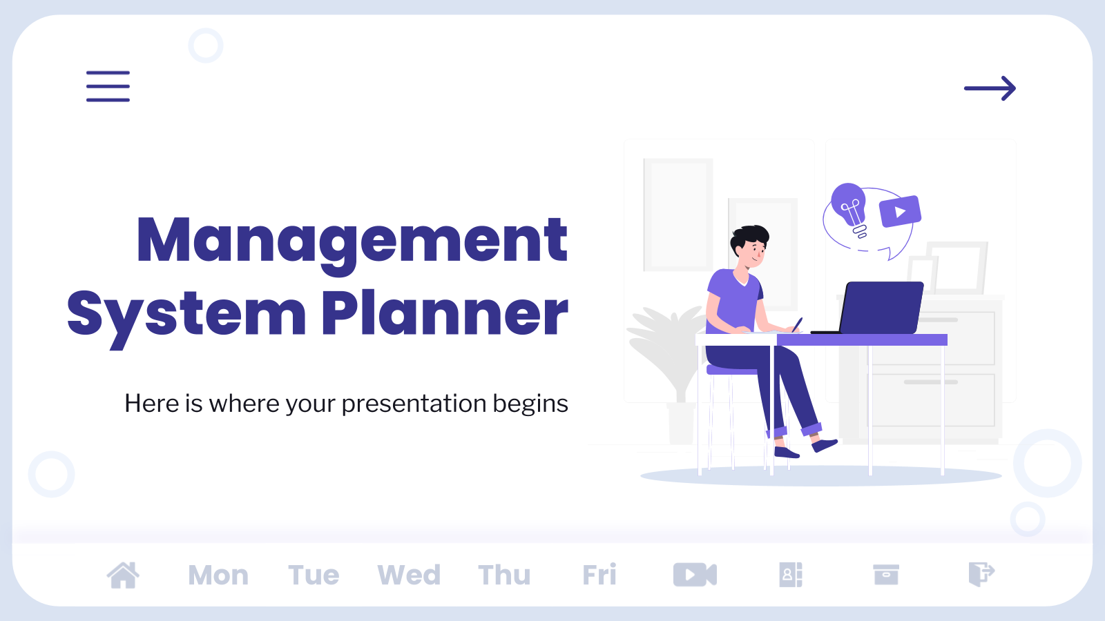 Management System Planner presentation template