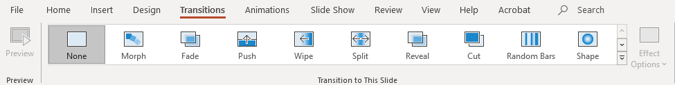 Removing a transition