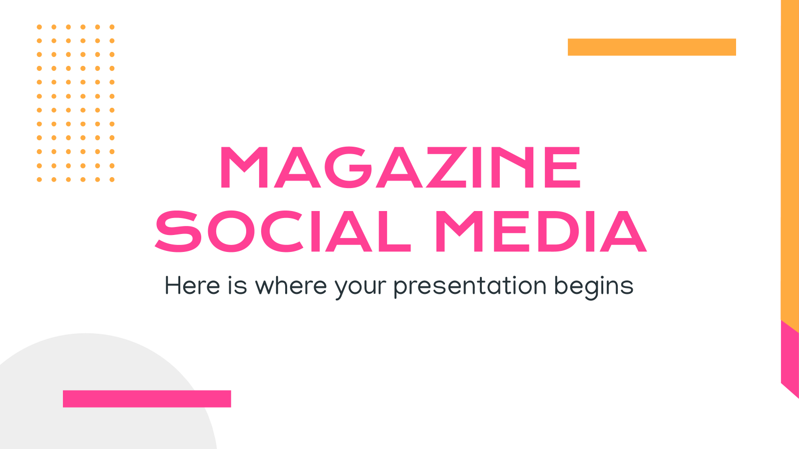 Magazine Social Media presentation template