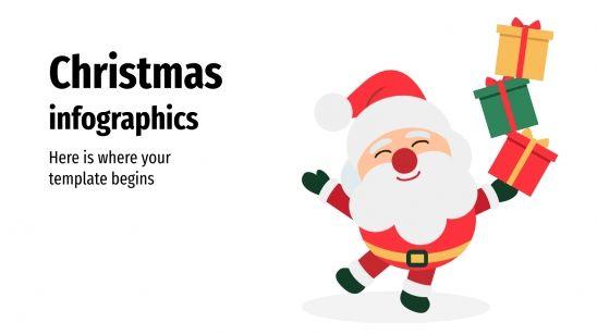 Infographies de Noël : Modèles de présentation