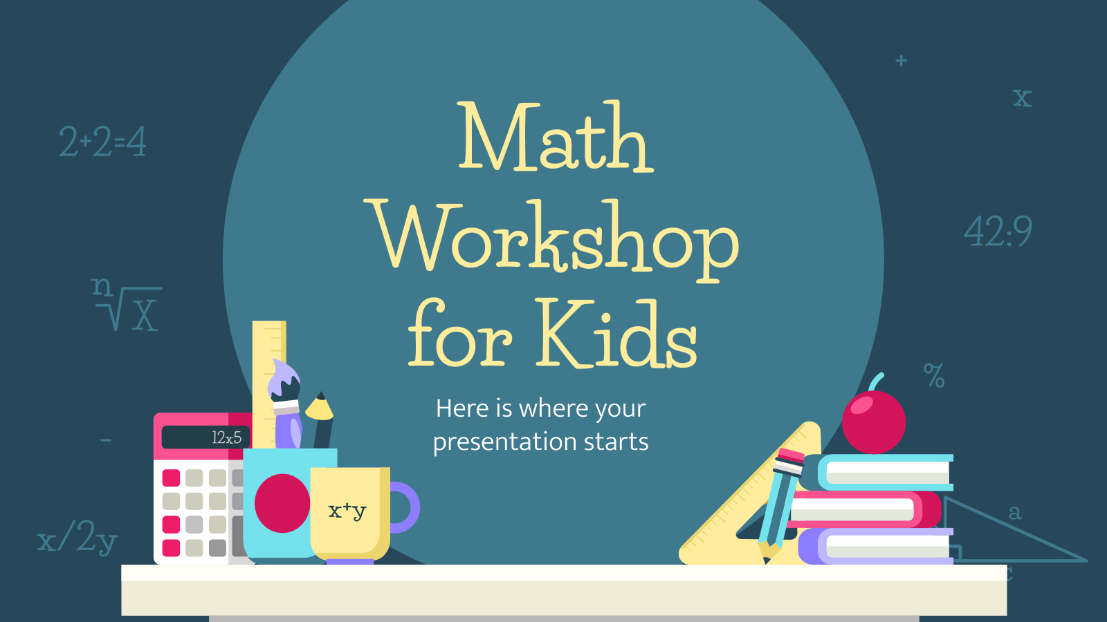 Math Workshop for Kids presentation template